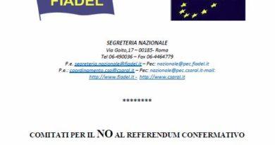 Vademecum su Riforma Costituzionale e posizione di CSA e FIADEL
