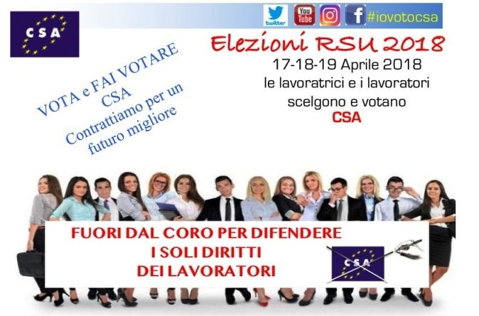 Elezioni RSU: Vota e fai votare CSA