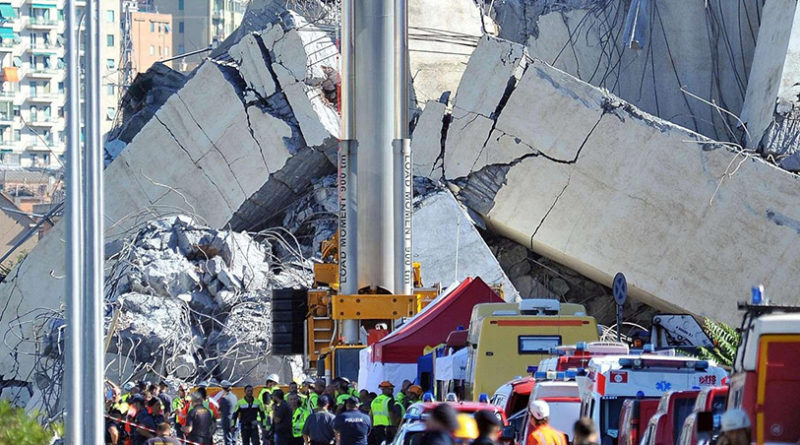 Il dolore e lo sconcerto di CSA/FIADEL per la tragedia di Genova