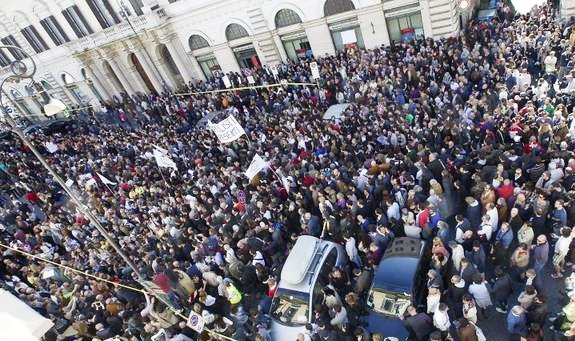 In Piazza SS. Apostoli a Roma per dare forza ai nostri diritti!